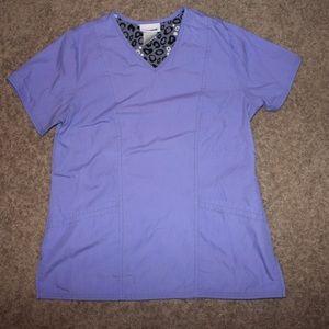Purple scrub top xs